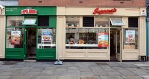 The controversial shopfront at Supermac's restaurant in Temple Bar, Dublin. Photograph: Eric Luke