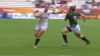 Centre Emily Scarratt inspired England to a decisive 40-7 win over Ireland in the World Cup Semi-Final, and a place in the women's rugby World Cup final for the sixth time. Video: Reuters