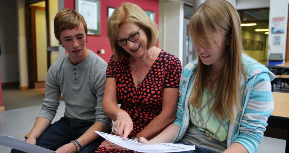 Students get their Leaving Cert results