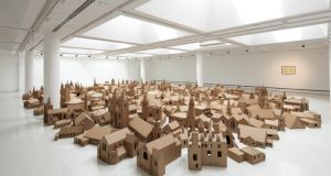 Nathan Coley's installation of 286 cardboard models of all the places of worship listed in the Edinburgh Yellow Pages