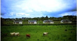 Going nowhere: boarded-up houses in a ghost development in Co Roscommon. Photograph: Bryan O'Brien
