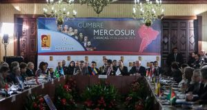 The recent Mercosur summit in Caracas, Venezuela. Photograph: EPA