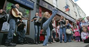 The Willis Clan from Nashville, Tennessee, performing in a previous year's Fleadh Cheoil in Cavan. Photograph: Alan Betson