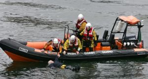 06/06/2010 - News -Members of the Irish Coastguard taking part in a rescue exercise. Photograph : Matt Kavanagh / THE IRISH TIMES