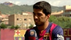 Luis Suarez trains with Barcelona after ban relaxed
