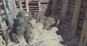 Dead Germans in a Trench: part of the painting by the Irish war artist William Orpen. Photograph: IWM