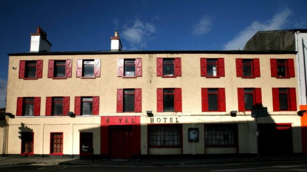 Off the Boyle: the town's deteriorating Royal Hotel. Photograph: Brian Farrell