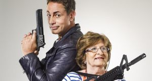 Stop or my mammy will shoot: Baz Ashmawy and his mother, Nancy (71)