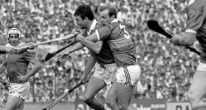 Jimmy Barry-Murphy in action against Tipperary during the 1985 Munster senior hurling final – widely regarded as his finest display for Cork. Photograph: Billy Stickland/Inpho