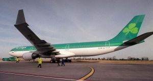 Hectic day for Aer Lingus in the market. Photograph: Alan Betson