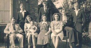 The family of Henk Zanoli, with his mother, Jans, seated in center, in 1942. Zanoli, 91, who saved a Jewish boy in 1943 and whose father died in a Nazi camp. Zanoli went to the Israeli Embassy in The Hague and returned a medal he received honoring him as one of the Righteous Among the Nations. Photograph: NYT