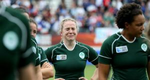 Ireland's Niamh Briggs after the defeat to France at the Stade Jean Bouin. Photograph: Dan Sheridan / Inpho