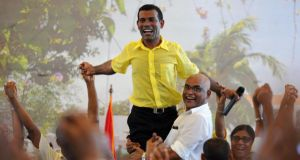 Mohamed Nasheed, the democracy campaigner, journalist and environmental activist who in 2008 became the first democratically elected president of the Maldives. Photograph: Ishara S Kodikara/AFP/Getty Images