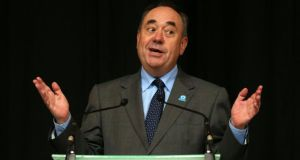 "Scottish first minister Alex Salmond: furious about the intervention of Australian prime minister Tony Abbott, who said it was ""hard to see how the world would be helped by an independent Scotland"". Photograph: Andrew Milligan/PA Wire."