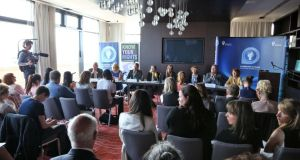A press conference held by the Irish Council for Civil Liberties to announce NGOs' reaction to UN's human rights review of Ireland. Photograph: Colin Keegan, Collins