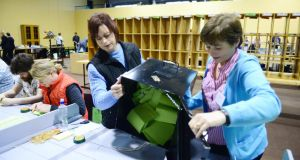 Counting votes in Keenagh Community Centre during the Westmeath-Longford byelection last may: photographers had no access to wifi to send photos of the winner back to newsrooms; the mobile phone signal was also too weak for the task. Photograph: Bryan O'Brien.