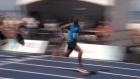 100 metres in 10.06 seconds - Usain Bolt wins 'Mano a Mano'