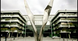 AIB's Bankcentre: its truer share price is closer to one or two cent. Photograph: David Sleator