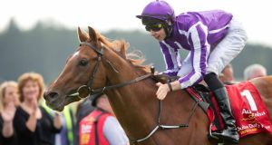 Australia (Joseph O'Brien) lands the Dubai Duty Free Irish Derby at the Curragh in June.