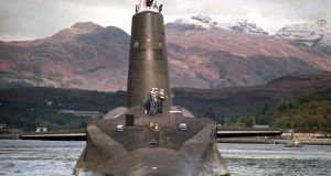 The Royal Navy's Trident-class nuclear submarine Vanguard: moving the UK's nuclear deterrent out of an independent Scotland is not impossible and would probably cost far less than the tens of billions of pounds previously predicted, experts have suggested. Photograph: PA Wire