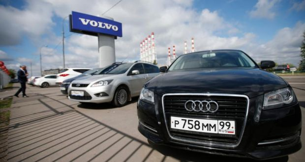 Cars Produced By Foreign Automobile Makers At A Dealership In Moscow Russia May En