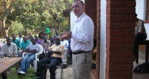 Gearoid Loibhead, from Kerry, carrying out aid  work in Malawi. Photograph: Concern