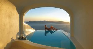 Avoid the kids at adults-only Sun Rocks resort in Santorini