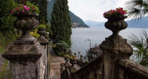 Gardens at Varenna's Villa Monastero, a former monastery. Photograph: Annalisa Brambilla for The New York Times
