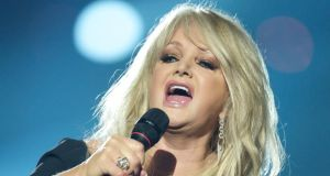 Bonnie Tyler singing for the UK at last year's Eurovision Song Contest in Malmo, Sweden. Photograph: Ragnar Singsaas/Getty Images