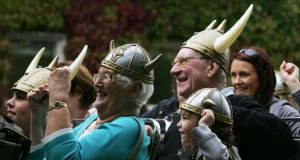 Tourists in Dublin enjoy the Viking Splash tour.Photograph: Cyril Byrne/The Irish Times