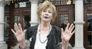 Author Edna O'Brien at a handprinting ceremony at the Gaiety Theatre in 2011. Photographer: Dara Mac Dónaill