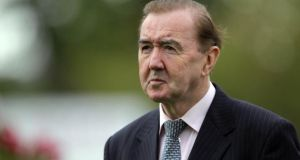 Dermot Weld: Khalid Abdullah's famous pink and green colours can secure feature race glory when Brooch takes the field in the Vincent O'Brien Ruby Stakes. Photograph: Donall Farmer
