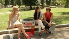 The smart park bench that charges your phone