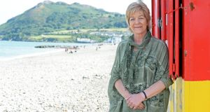 Anne Ferris photographed on the beach at Bray, Co Wicklow,  Photograph: Eric Luke