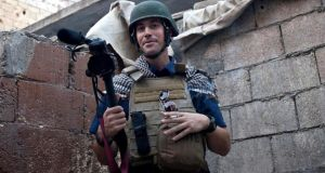 Journalist James Foley was on assignment for Boston-based website Global Post and the Agence France-Presse when he was taken hostage at a checkpoint in northern Syria in November 2012. Photograph: AP Photo