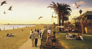 St Kilda, a beachside area in  Melbourne, Australia, which, for the fourth year in a row remains the most liveable location of  140 cities surveyed by the Economist Intelligence Unit.  Photograph:  Tourism Victoria
