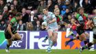 Johnny Sexton in action for  Racing Metro against Harlequins in last year's Heineken Cup. Photograph: Andrew Fosker/Inpho.