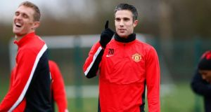 Manchester United's Robin van Persie could face Sunderland at the weekend. Photograph: Darren Staples / Reuters