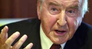 Former taoiseach and Fianna Fáil leader Albert Reynolds has died. He was 81.  Photograph: Brenda Fitzsimons/The Irish Times.