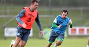 Darron Gibson returns to Republic of Ireland squad. Photograph: Donall Farmer/Inpho
