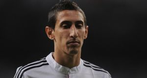 Angel di Maria wants to leave  Real Madrid. Photograph:   Denis Doyle/Getty Images