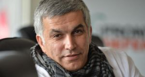 Nabeel Rajab: 'When I realised I would be targeted and could get killed, I transferred everything to my family, my wife.' Photograph: Alan Betson