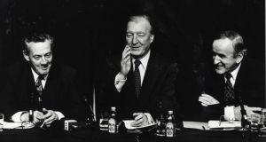 The unlikely lads: Des O'Malley, Charles Haughey and Albert Reynolds. Photograph: Irish Times Archive