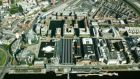 An Aerial view of Dublin's IFSC