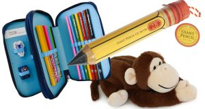 Spiderman pencil case €16 Littlewoods Ireland Giant pencil pencil case €6.50 Pavilion Garden Centre Cork Monkey Pencil case €5.99 Easons