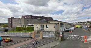Tests were carried out for the Ebola virus and isolation procedures were put in place after a death in Co Donegal. The man was found dead late last night and taken to Letterkenny General Hospital (pictured). Photograph: Google Street View