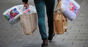 Our virtual Tesco shop of the same 30 items costs €132.64 in the Republic and €112.02 in the North, a difference of more than 20 per cent. Photograph: Carl Court/AFP/Getty Images