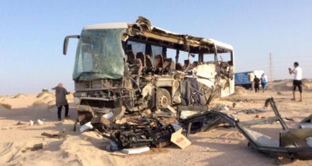 At least 33 killed in Egyptian bus crash