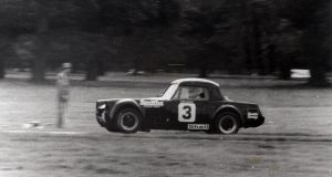 David Sleator's life: David driving a ModSport Midget in the Phoenix Park, c 1979.