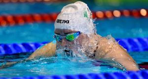 Ireland's Fiona Doyle will compete in Sunday's 50m Breaststroke final. Photograph: Andrea Staccioli / Inpho